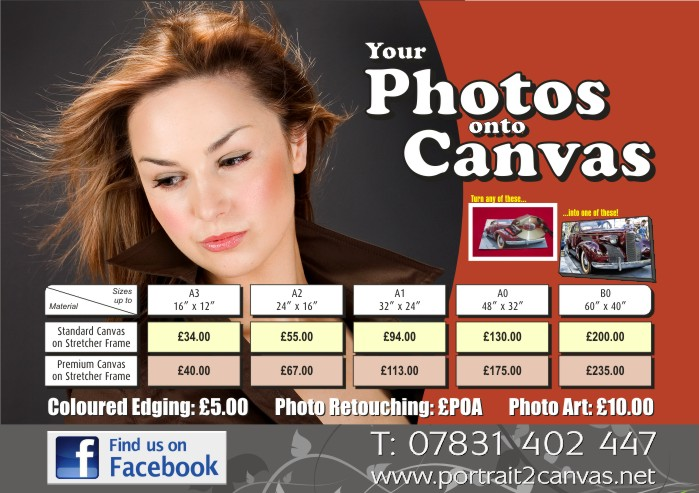 Your photos to canvas, based in Stockport near Manchester